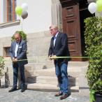 Stiftungsdirektor Gerhard Lenz (li.) und Wirtschaftsminister Dr. Bernd Althusmann eröffnen das neue Welterbe-Infozentrum
