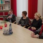 Bürgermeister Dr. Thomas Gans, Frank Uhlenhaut (Sozialverband), Manuela Koch (Lauterberger helfen sich), Katharina Euteneier (Johanniter) und Inge Weddecke (Deutsches Rotes Kreuz)