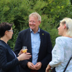 Dr. Thomas Gans im Gespräch mit Carola Schmidt, Geschäftsführerin des Harzter Tourismus-Verband HTV und Petra Schultheiß, Geschäftsführerin des Vitaliums Dr. von Plachy