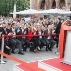 Viel SPD-Promenenz war zur Unterstützung von Martin Schulz gekommen.