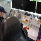 Im hinteren Bereich des Fahrzeuges befinden sich zwei weitere Funk-Arbeitsplätze