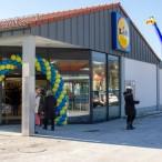 Der neue Eingang des Einkaufsmarktes