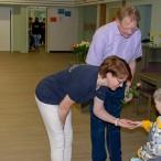 Wenn auch die Räume neu waren, die Erzieherinnen und Leiterin Frauke Scholz waren den Kindern wenigstens schon vertraut.