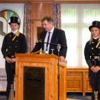 Eröffnung des Landesinnungsverbandstags 2019 der Schornsteinfeger im Revita. Landesinnungsmeister Stephan Langer bei seiner Begrüßung.