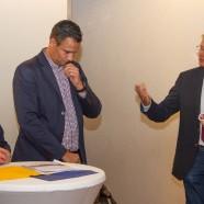 Thomas Gans engagiert (r.) für das Vitamar in Richtung Geschäftsführer Stefffen Ahrenhold und Kornelia Stitz   ---   --- Fotos: K.H.Bleß