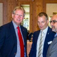 Gespräch vor Beginn der Tagung: Dr. Thomas Gans, Pressesprecher Jens Wagener und Bezirksschornsteinfeger Gerold Hoffmann   ---   Fotos: K.H.Bleß