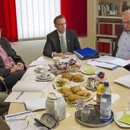 Stellten sich der Presse: Jochen Bergmann (Landkreis), Thomas Gans, Frank Uhlenhaut, Franz Brinkner (Amt für reg. Landesentw.) und Anne Schüler --- Fotos: Bleß