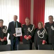 Die offizielle Übernahme der Schirmherrschaft mit dem Vorstand des Musikcorps Marchinpower