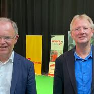 Ministerpräsident Stephan Weil mit Bürgermeister Dr. Thomas Gans