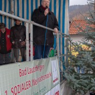 Bürgermeister Dr. Thomas Gans eröffnet offfiziell den 1. Bad Lauterberger sozialen Weihnachtsmarkt
